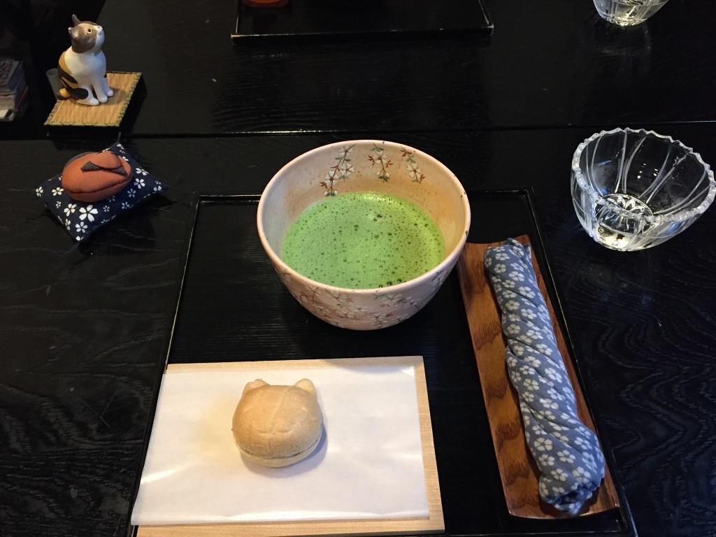 桜新町 和カフェ 抹茶セット