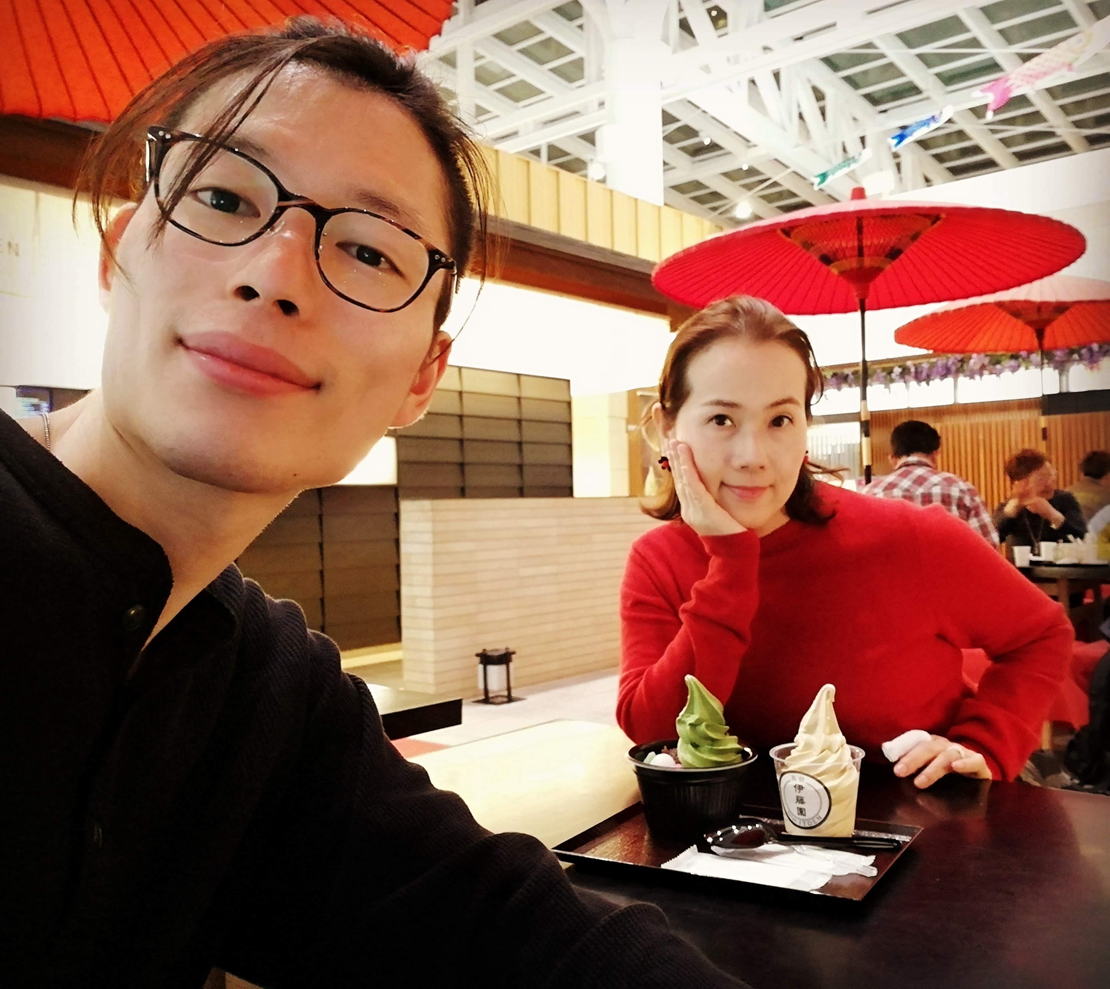 ベールの田中夫婦@羽田国際空港の伊藤園